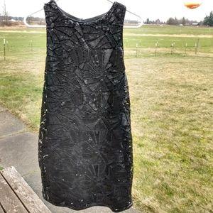 H&M Black Sequin Dress